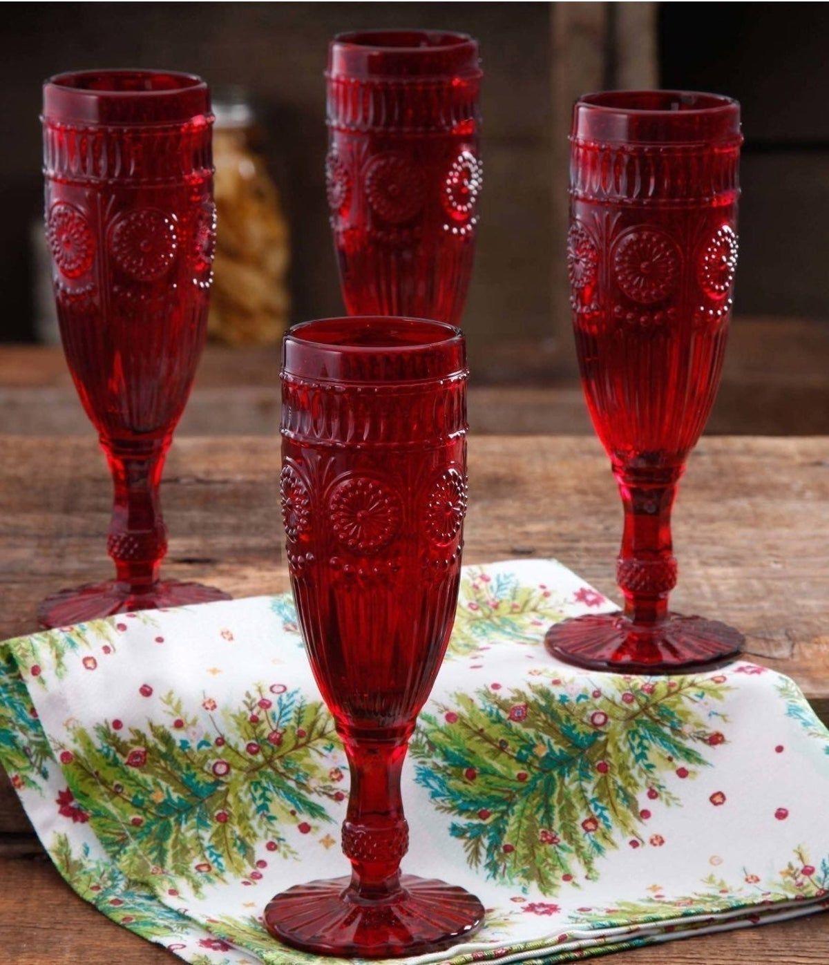 Pioneer Woman Flute Glasses Set 4 In 2020 Pioneer Woman Dinnerware Pioneer Woman Dishes Pioneer Woman Kitchen