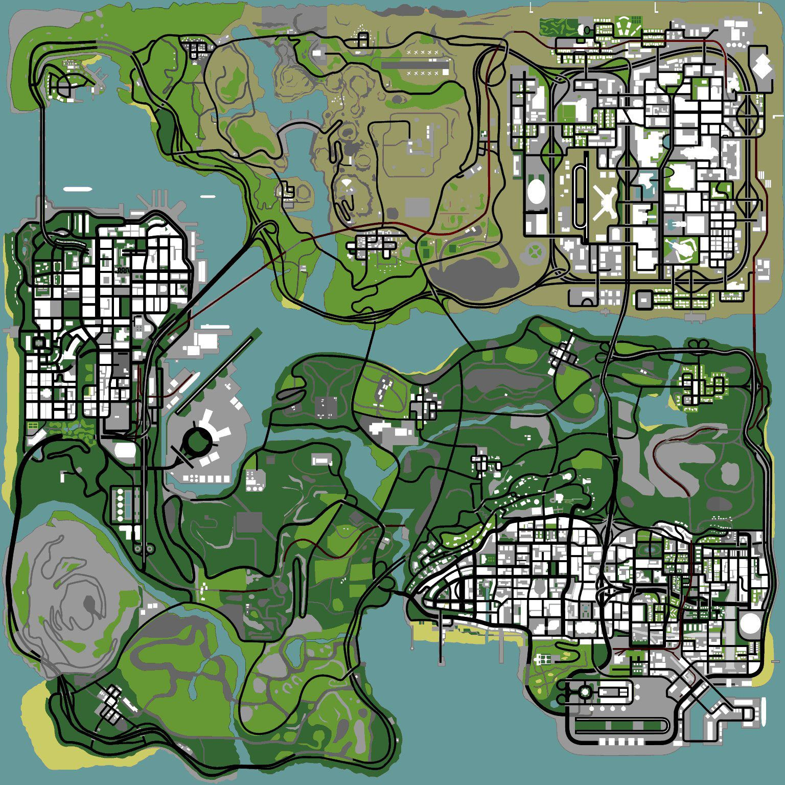 Best Map Ever Gta San Andreas Map San Andreas Gta San Andreas