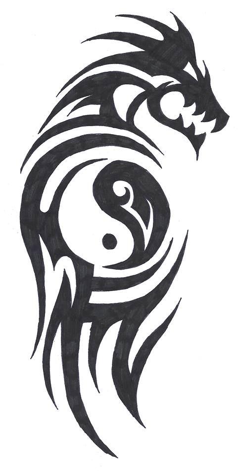 Ying Yang Dragon Made By Anouk De Wert Awesome Tattoos
