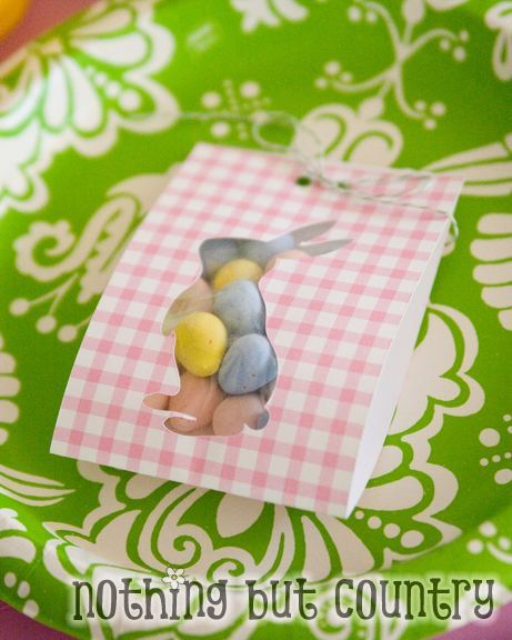 Good idea for a diy gift wrap could use any silhouette which suits easter visiting teaching gift some bunny special negle Images