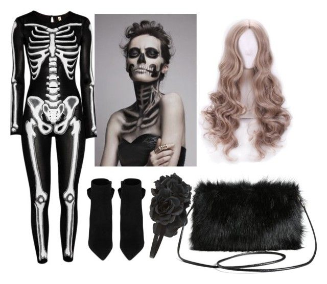 """Skeleton"" by a-del-c on Polyvore featuring Yves Saint Laurent, Accessorize and Torrid"