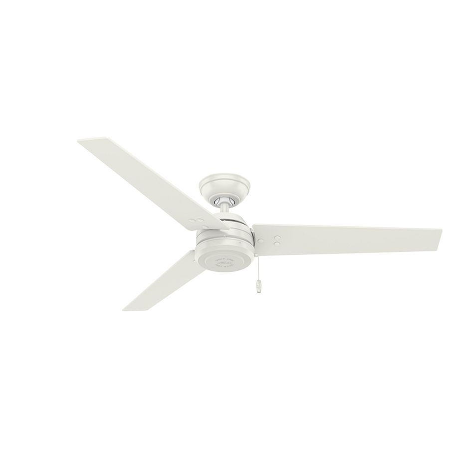 Hunter Cassius 52 In White Downrod Or Close Mount Indoor Outdoor Commercial Residential Ceiling Fan 3 Blade Energy Star