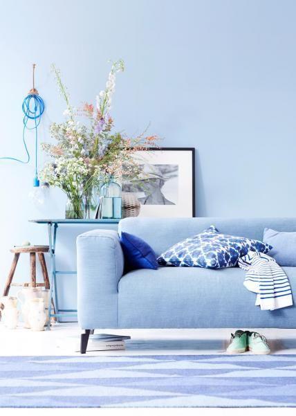 Wohnzimmer blau weis  ▷ Maritim einrichten - So gelingt der maritime Wohnstil   Maritim ...
