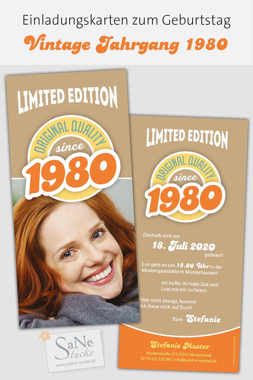 Vintage Jahrgang Einladungen Geburtstag Einladungskarten