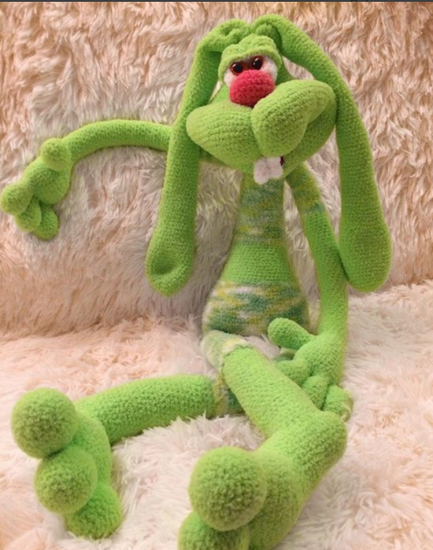 121 Crochet Pattern - Rabbit Dude Keks - Amigurumi soft toy PDF file ...