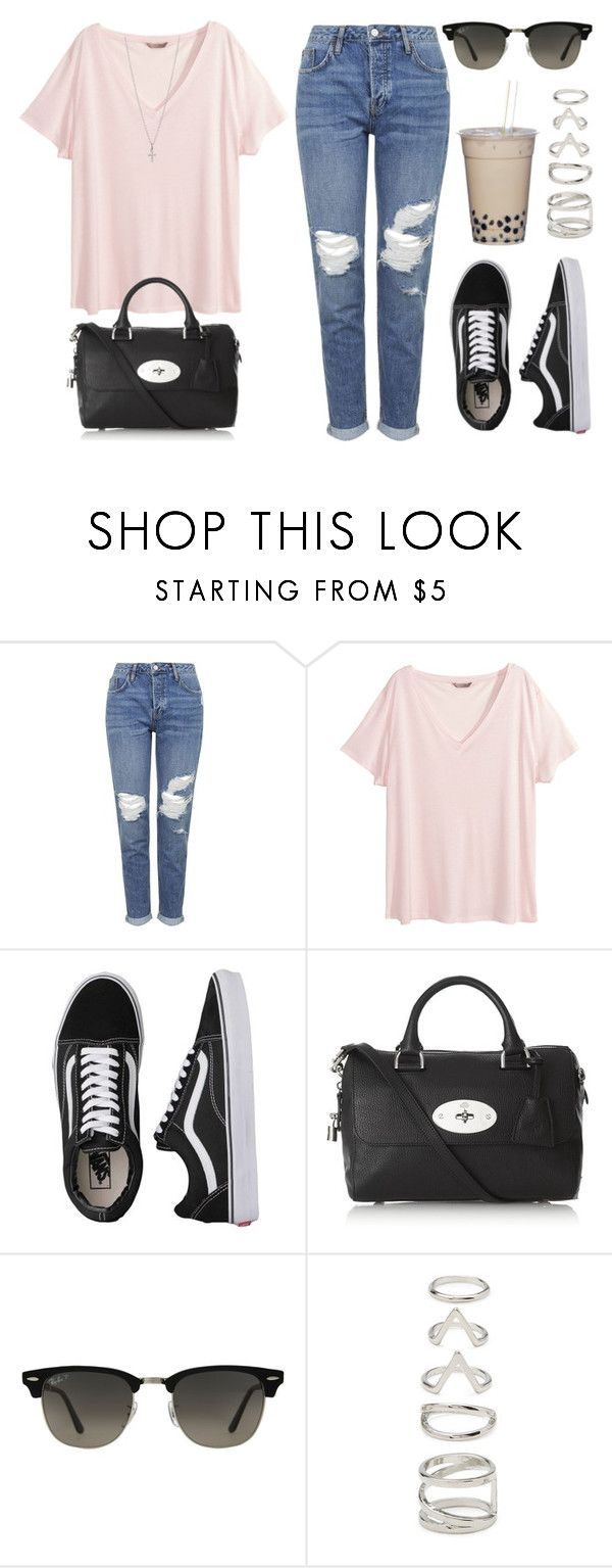 """""""Sin título #12617"""" by vany-alvarado ❤ liked on Polyvore featuring Topshop, H&M, Vans, Mulberry, Ray-Ban, Forever 21 and Ileana Makri"""