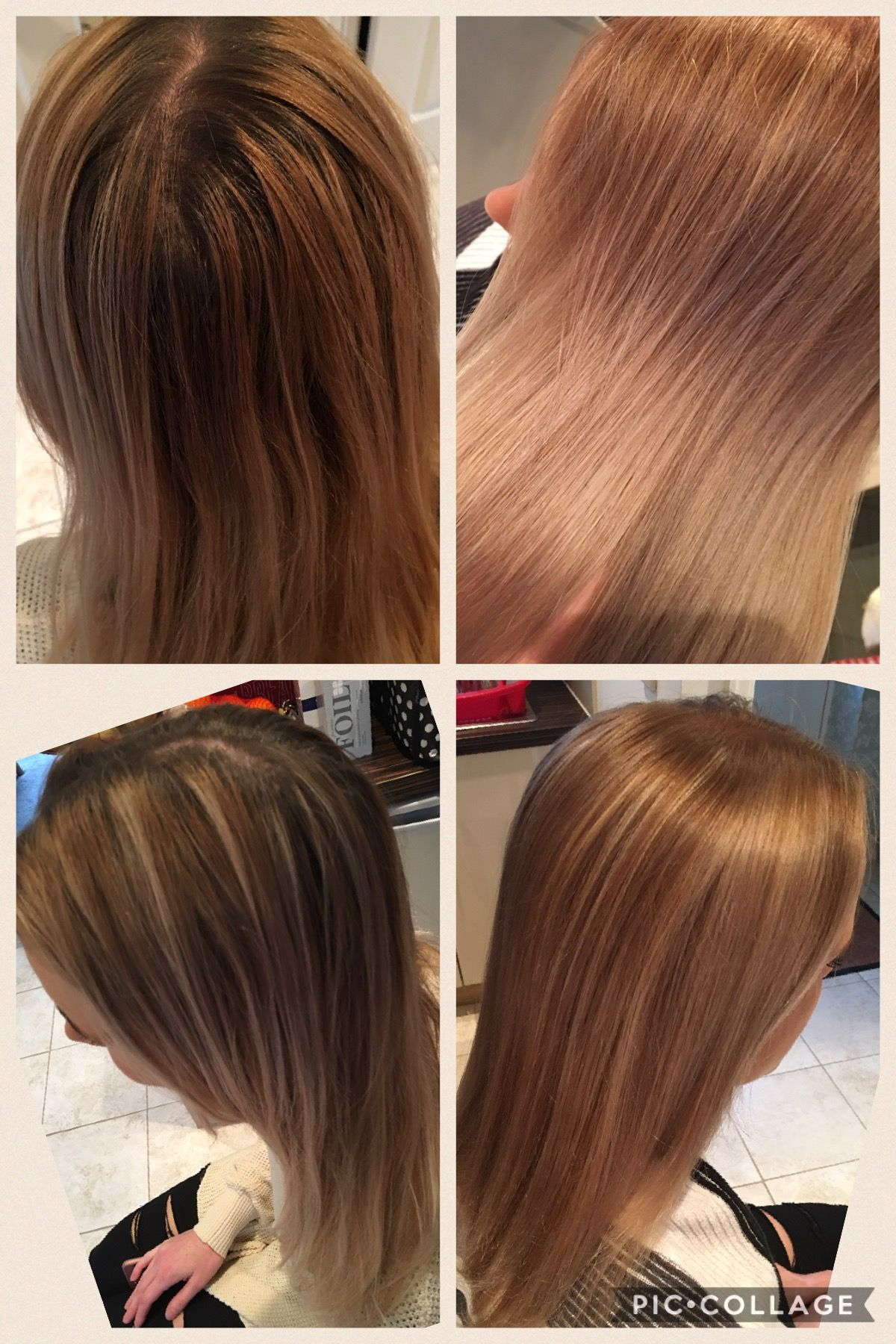 Before After All Over Colour 81 With Base 7 Blonde
