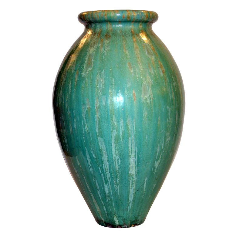 Galloway Vase Usa Circa 1910 Large Vase In Green Flambe Glaze By The Galloway Terracotta Company In Philadelphia Pa Vases For Sale Antique Vase Modern Vase