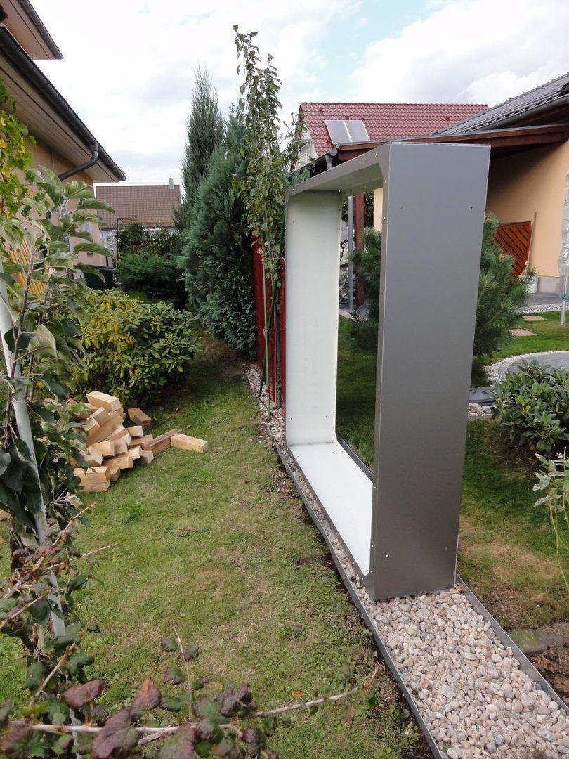 Kaminholzregal Metall 1,7 m x 0,6 m lackiert ohne Dekor