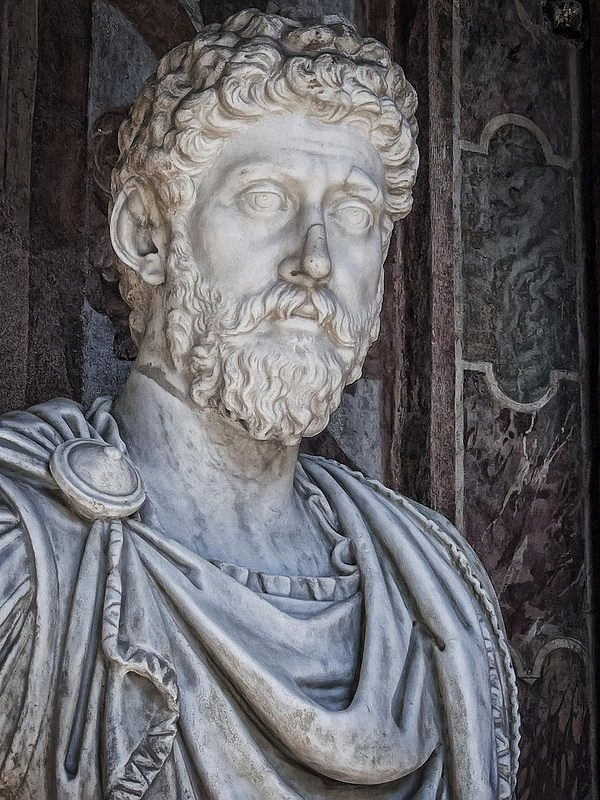 Portrait bust of Roman Emperor Marcus Aurelius at the Palazzo Altemps in Rome, Italy   da mharrsch