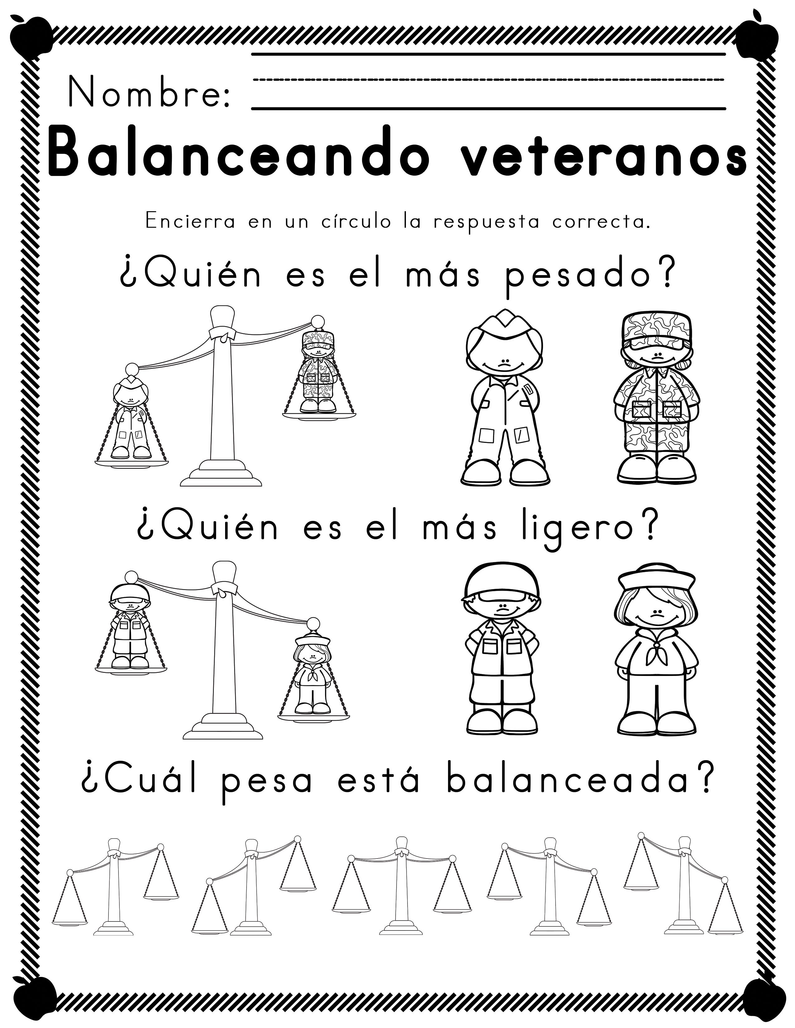 Worksheets For Veterano Tematico Alfabetismo And Mates