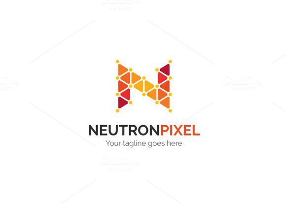 Neutron Pixel Letter N Logo by XpertgraphicD on Creative Market - new zulu formal letter format