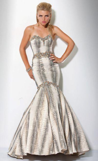 7063f51741f5 Jovani Metallic Snake Mermaid Prom Dress 9345 | Sara's prom | Prom ...