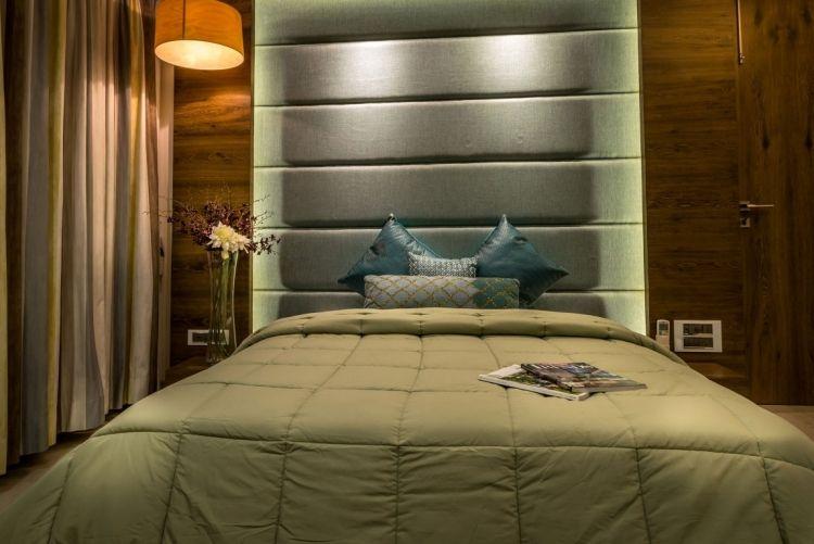 Single Schlafzimmer ~ Außergewöhnlich wandgestaltung schlafzimmer modern ausführung