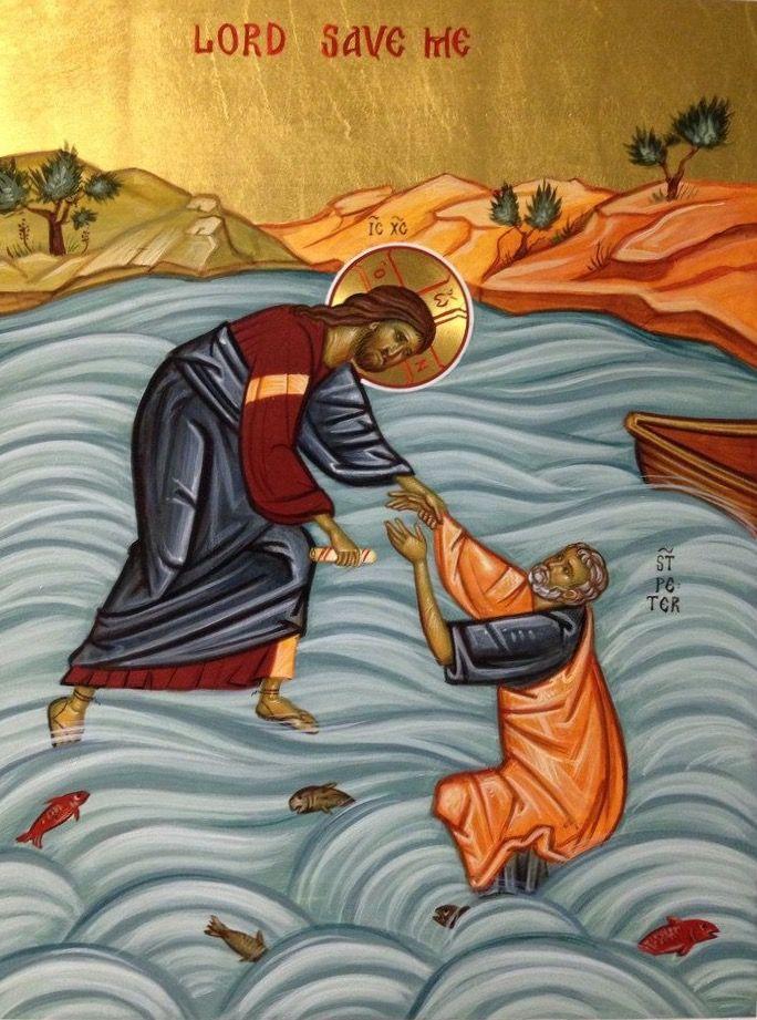 SAN PEDRO Y JESÚS   Icoon, Christelijk, Katholiek