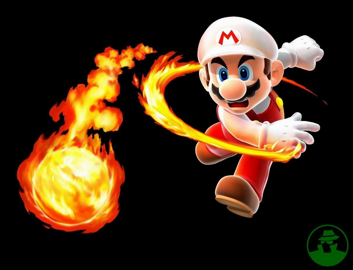 Mario With A Fireball Mario Art Game Character Mario Characters