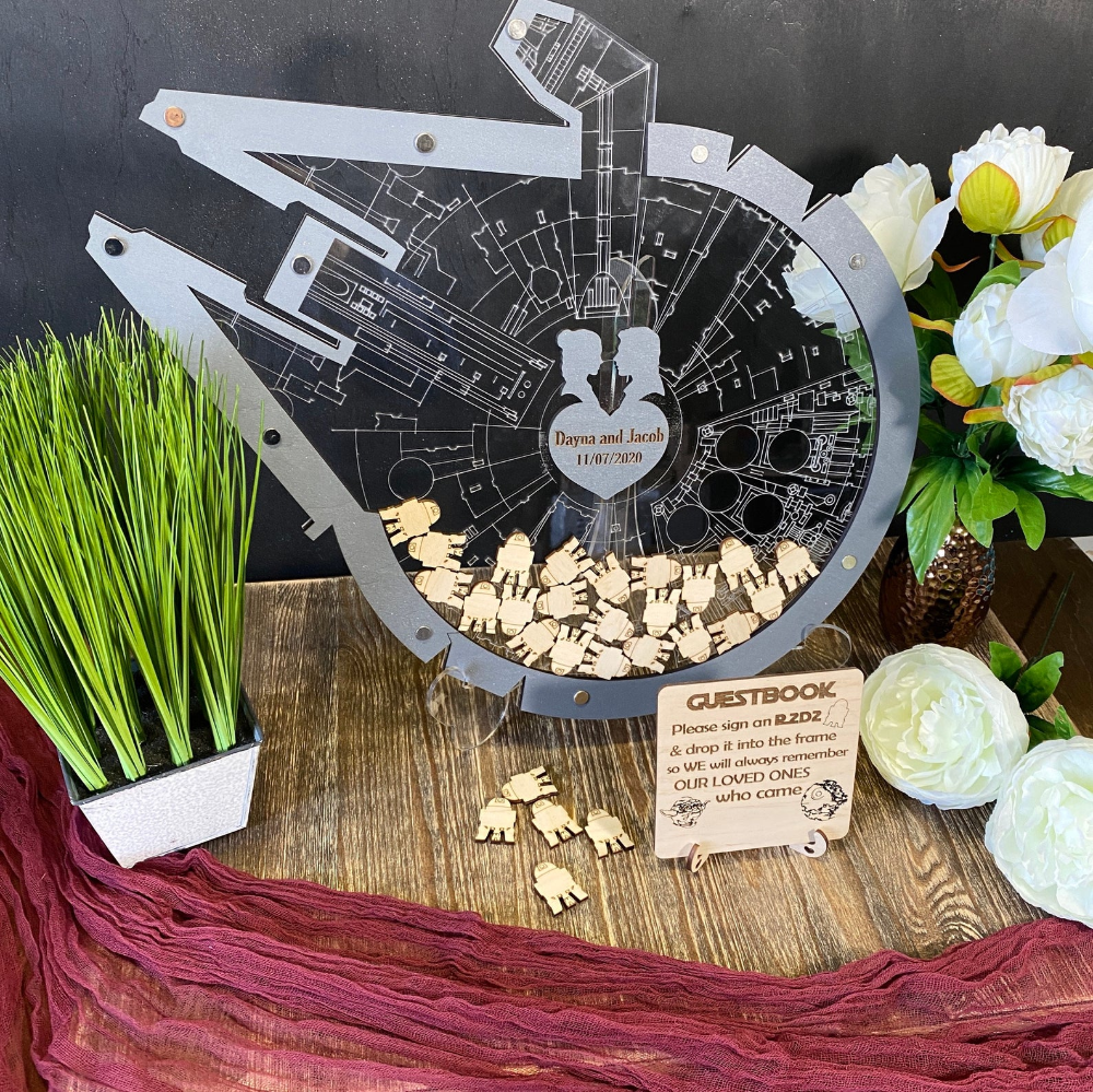 unique wedding guestbook alternative Guest Book Star Wars Droid Star wars-Inspired Star Wars BB8 Wedding Guest Book