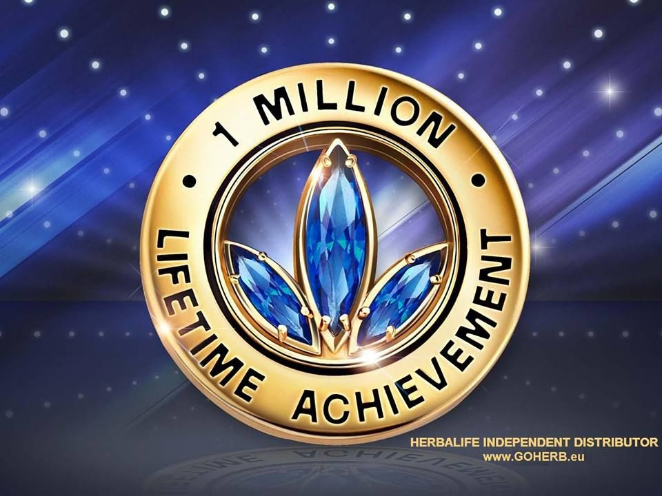 Herbalife 1 MILLION LIFETIME ACHIEVEMENT PIN- YOU CAN DO IT ...