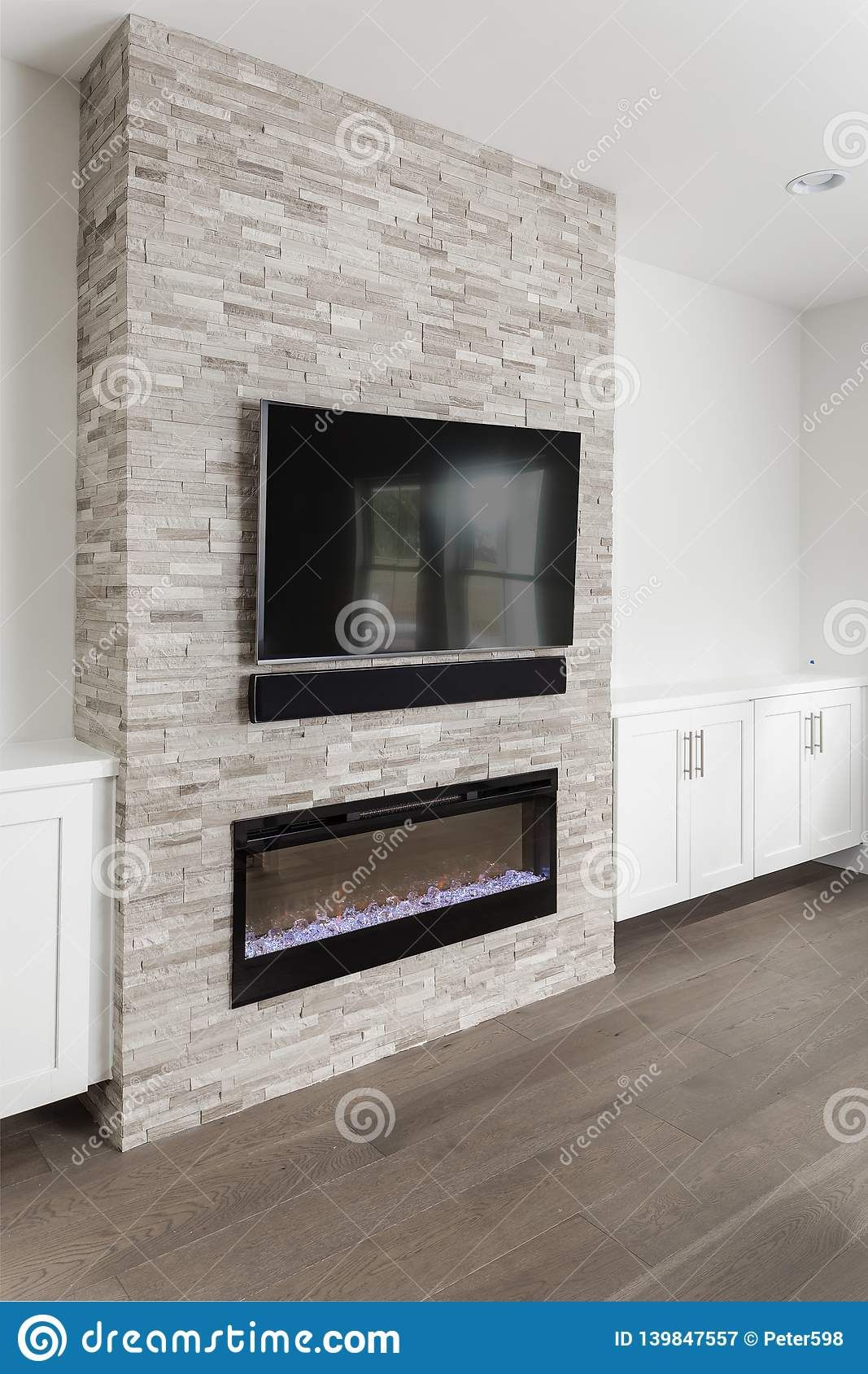 White Cabinets Around Fireplace 2021 in 2020   Basement fireplace, Fireplace, Family room fireplace