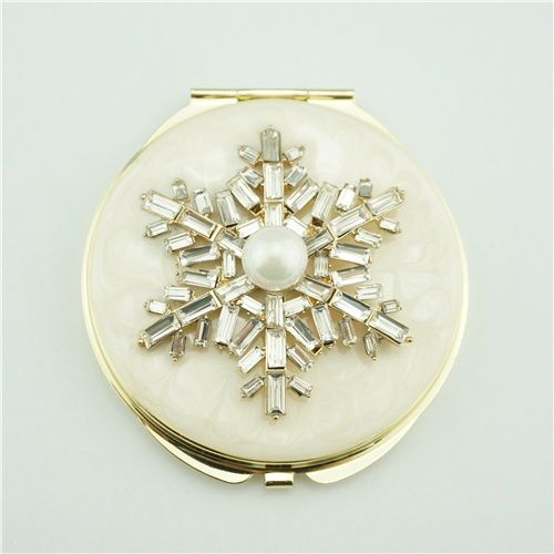 Mother Of Pearl Compact Mirror This Round Compact Mirror