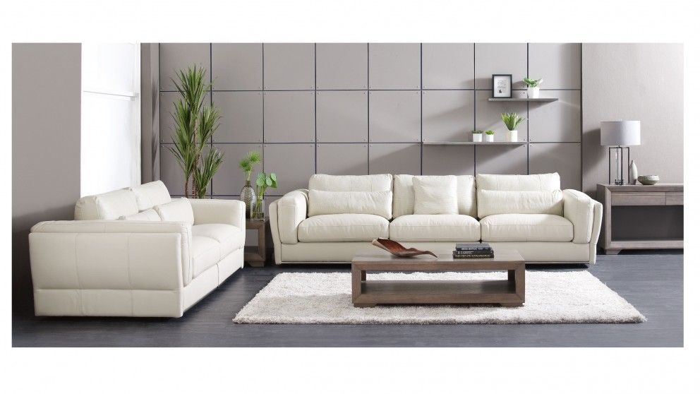 Cameo 3 Seater Leather Sofa Lounges Living Room Furniture Outdoor Bbqs Harvey Norman Australia
