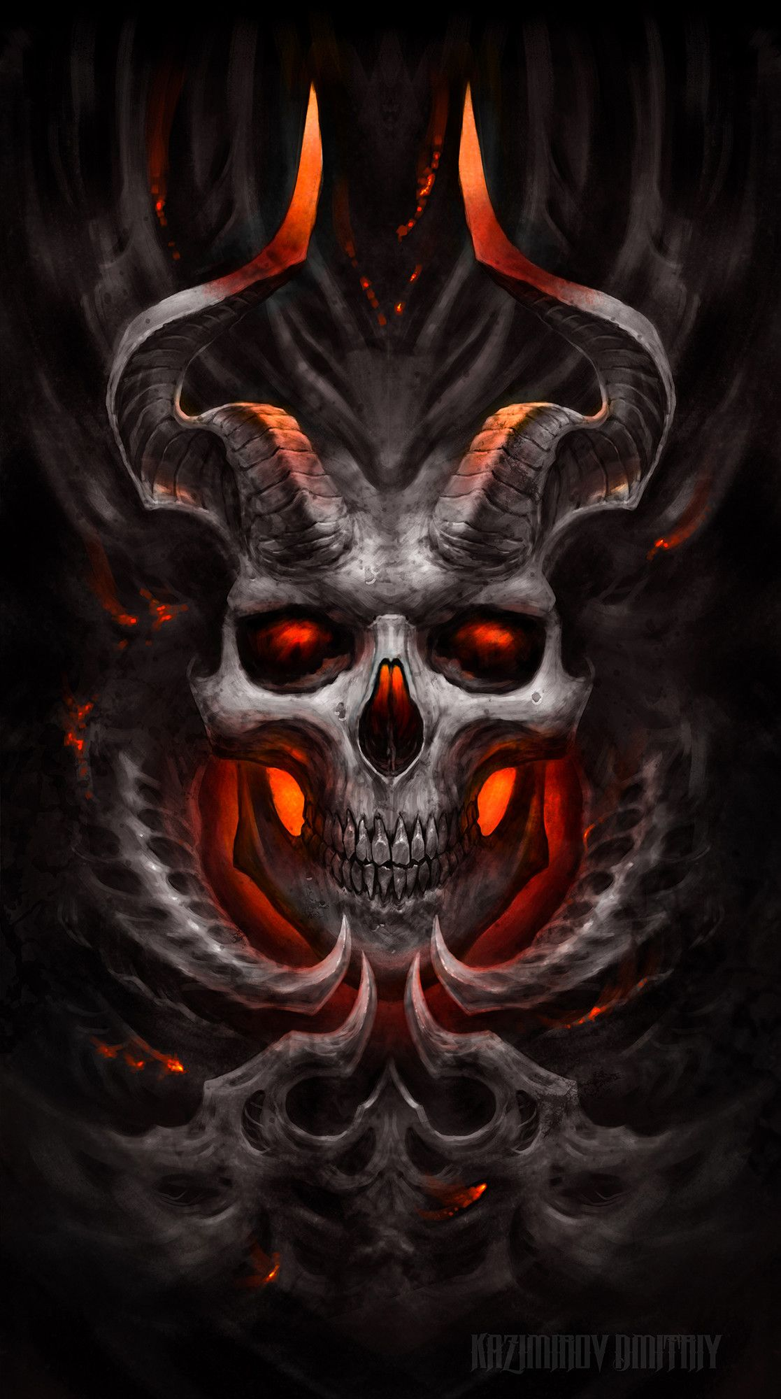 Demon by kazimirov dmitriy on artstation satanic - Devil skull wallpaper ...