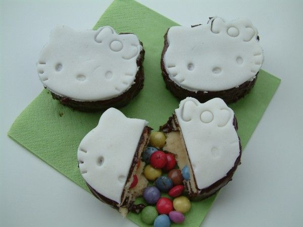 Pinata cookies. I hate hello kitty but the idea is cute
