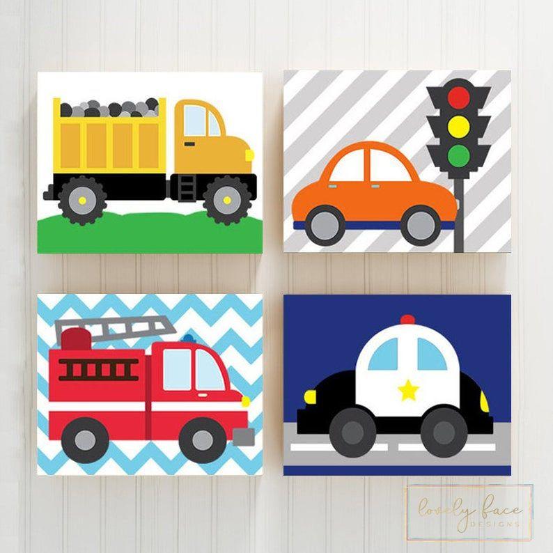 Transportation Wall Art City Vehicles Theme Cars Nursery Etsy Printable Kids Wall Art Safari Nursery Wall Art Art Wall Kids
