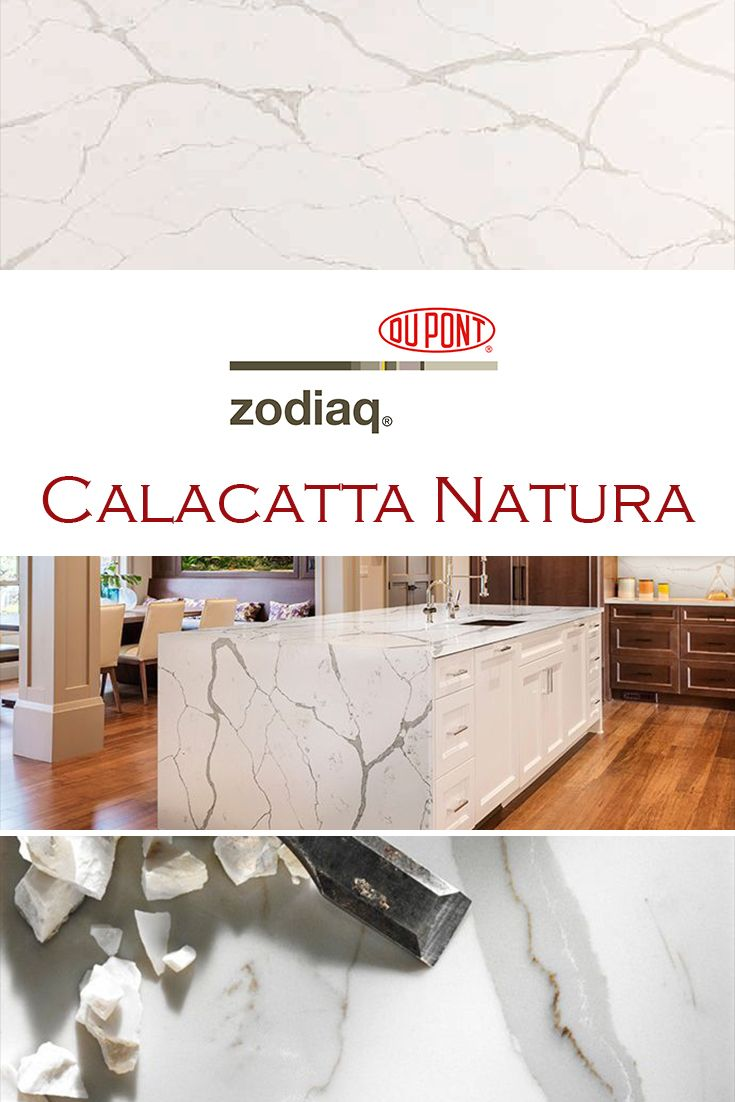 Calacatta Natura By Zodiaq Is Perfect For A Kitchen Quartz Countertop Replacement