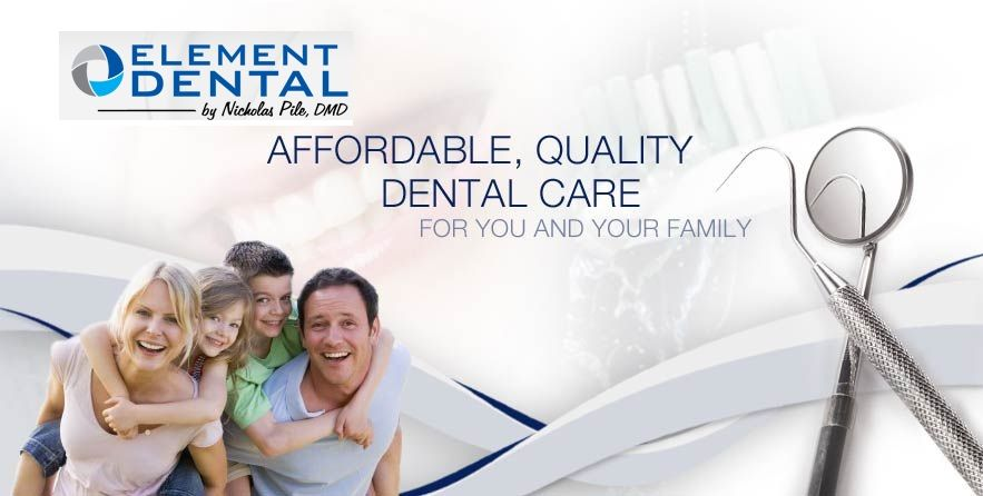 At element dental our dentists will examine your teeth