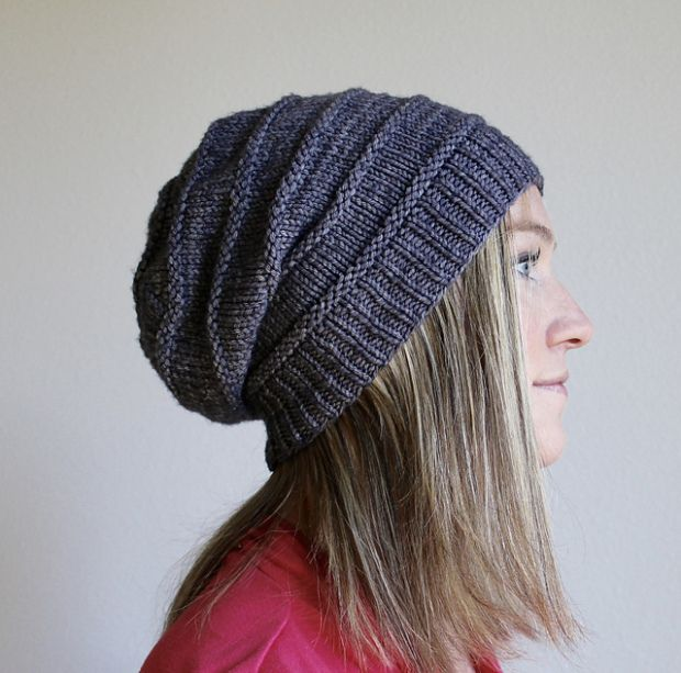 Free Knit Beanie Pattern : Free pattern Friday: Favorite Knit Slouchy Hat by Jamie Sande Slouchy hat, ...