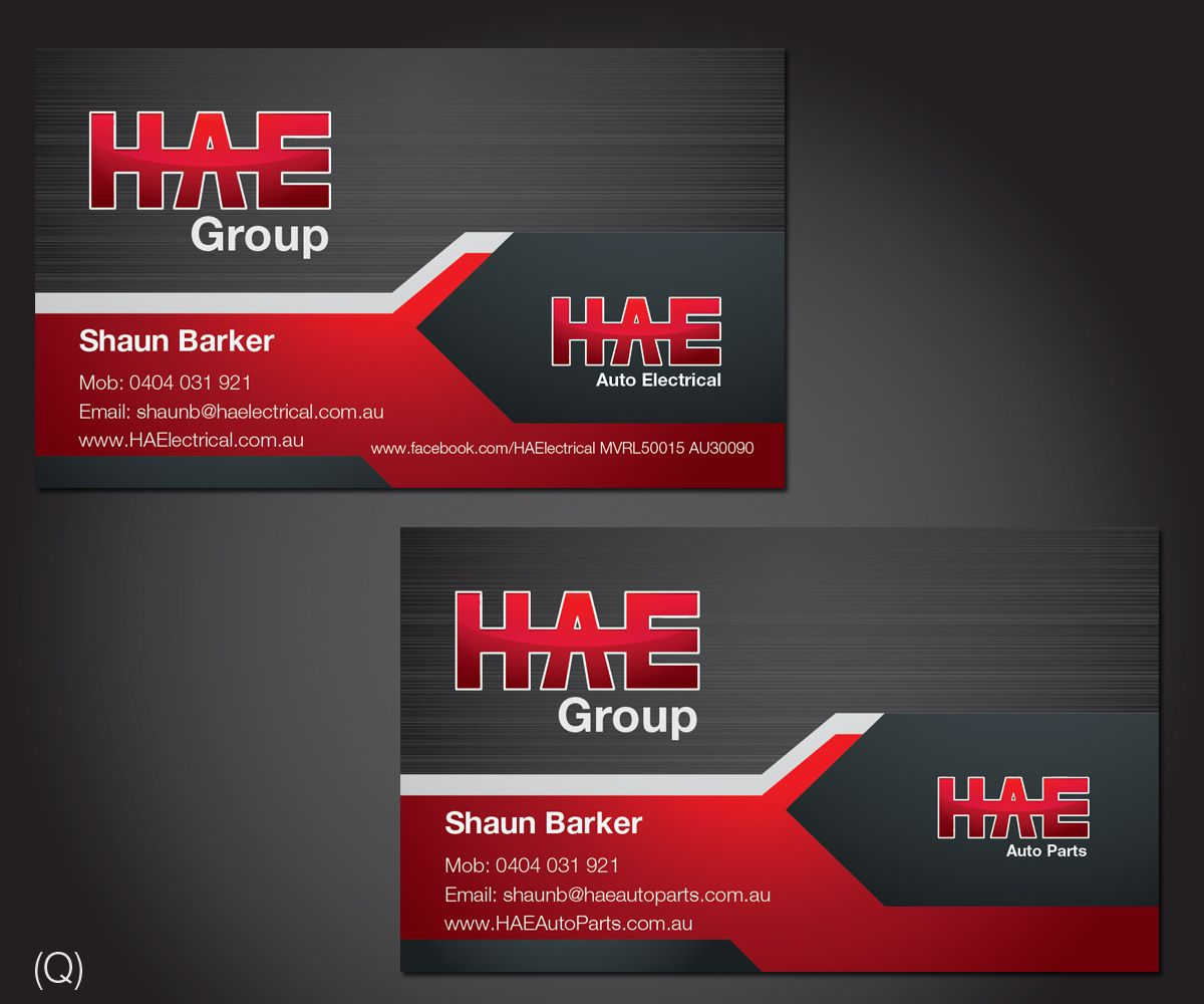Business Card Design by Esolbiz for HAE Auto Electrical, Auto ...