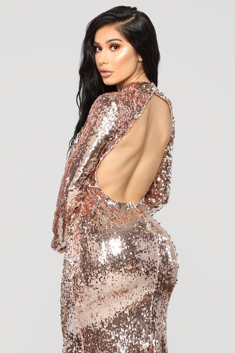 66063f7fce0 Practically Famous Sequin Dress - Rose Gold in 2019