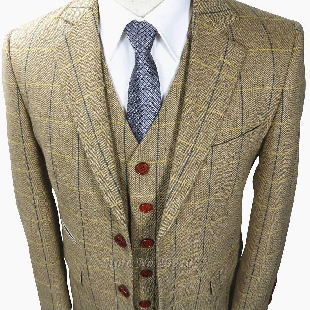 Tweed Suit Men S Herringbone Retro Men S Suit 3 Piece Wool Suit Mens Suits Mens Tweed Suit Mens Suit Jacket