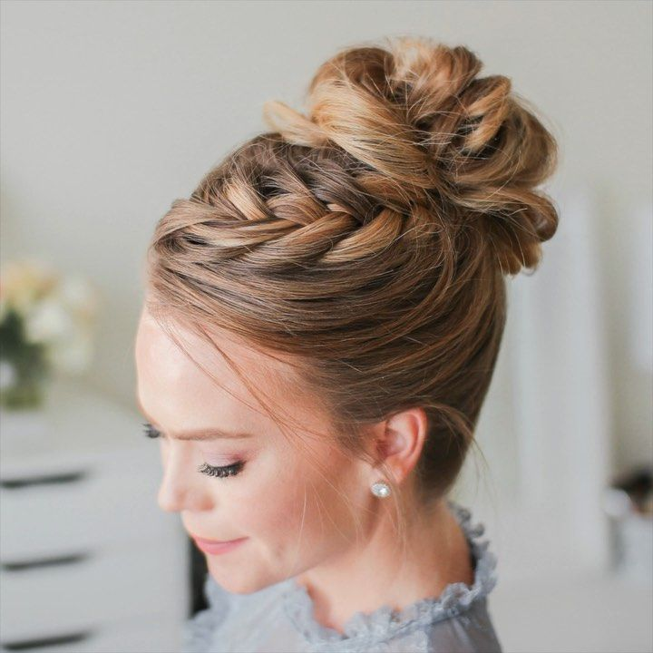 Melissa Cook Missy On Instagram Fishtail French Braid High Bun Tag A Friend T Fishtail French Braid Formal Hairstyles For Long Hair Ball Hairstyles