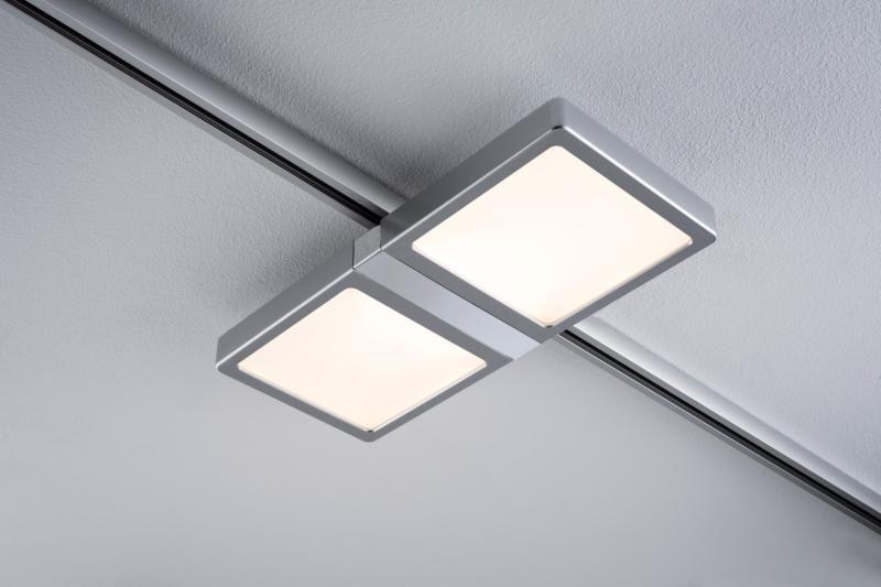 Spot Panel Double Led 2x4w Paulmann Eclairage Tableau Sur Rail Plafond Castorama Luminaire Panneau Led Eclairage Plafond