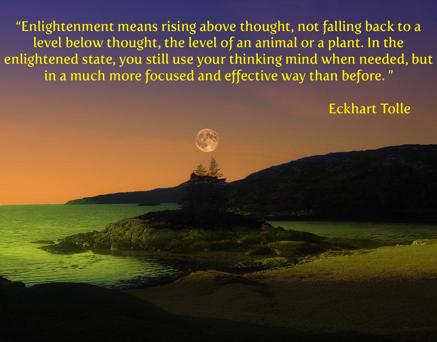 Tolle forum eckhart landmark Spirituality