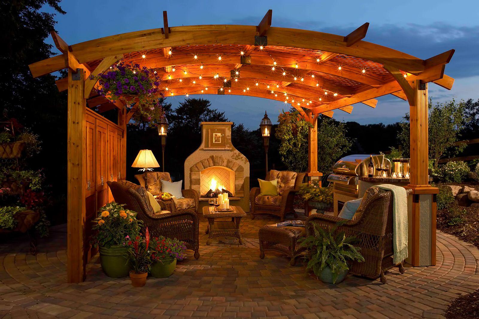Illuminazione per gazebo illuminazione veranda esterna