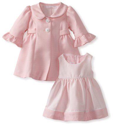 gros remise professionnel de la vente à chaud chaussures de tempérament Amazon.com: Bonnie Baby Girls Newborn Pink Coat Set ...