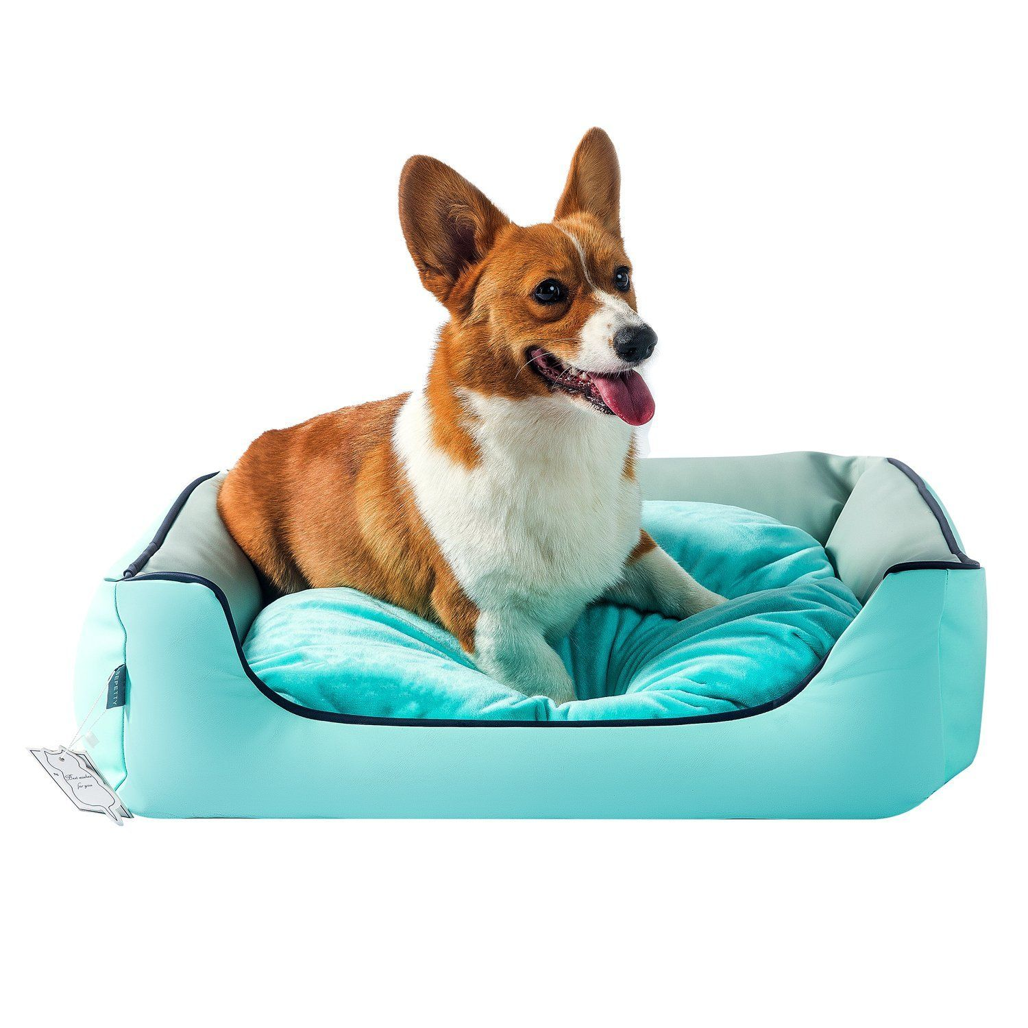 Sepetty Leather Dog Cat Bed Luxurious Dog Bed Removable Easy To Clean And Durable Pet Bed Designed For All Seasons Ortho High Dog Beds Leather Dog Bed Dog Bed