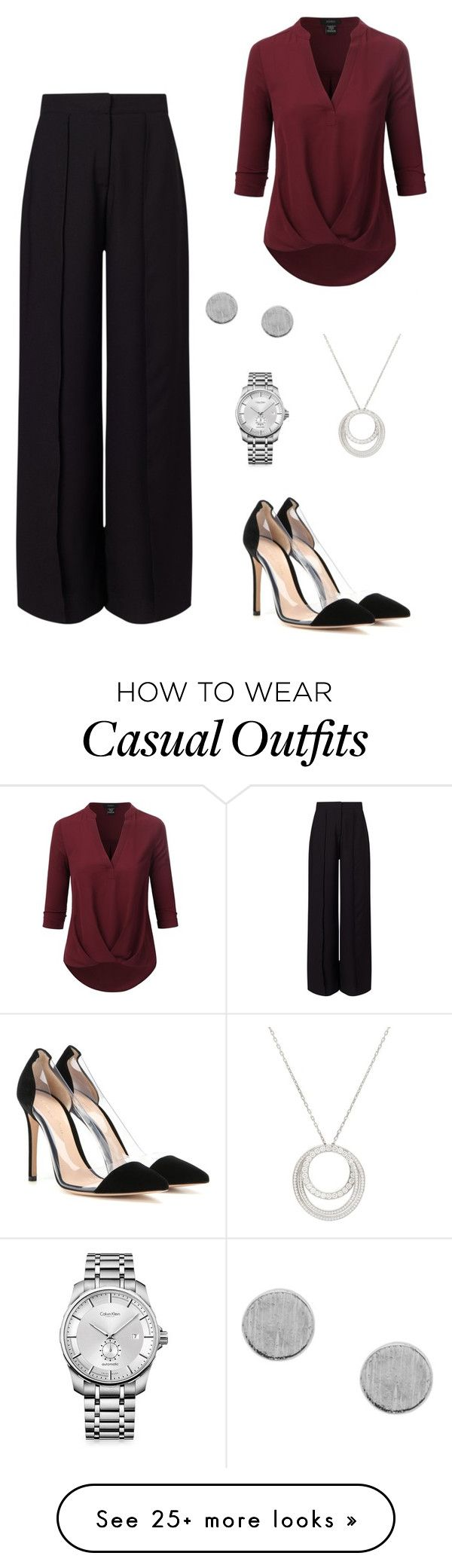 """""""Casual Dinner"""" by laurenhansendenatly on Polyvore featuring Miss Selfridge, Doublju, Gianvito Rossi, Cartier and Calvin Klein"""