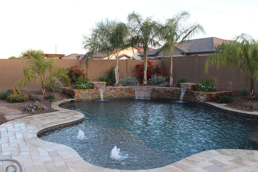 Phoenix Pools And Spas Gallery Backyard Pool Landscaping Pool