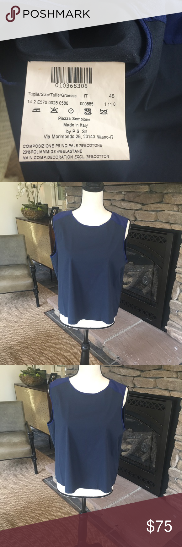Piazza Sempione Top Size 48 Piazza Sempione Top Size 48. Great condition. Beautiful shirt. Piazza Sempione Tops