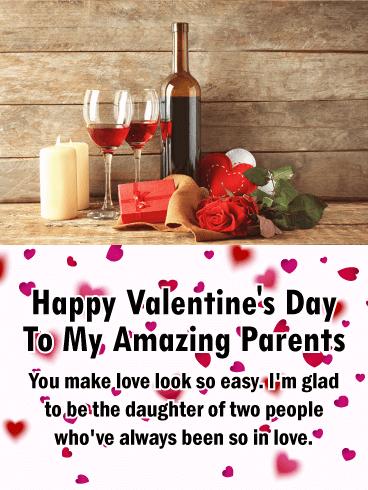 To My Amazing Parents Happy Valentine S Day Card It S Lovebird
