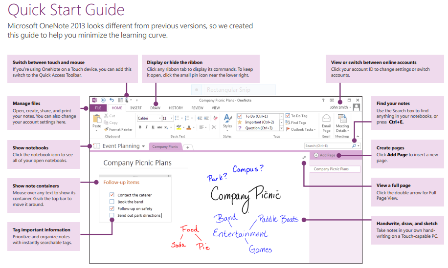 OneNote vs. Evernote A personal take on two great note