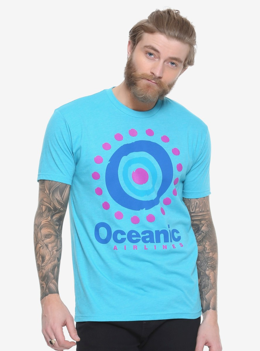 Lost Oceanic Airlines T Shirt Boxlunch Exclusive Shirts Mens