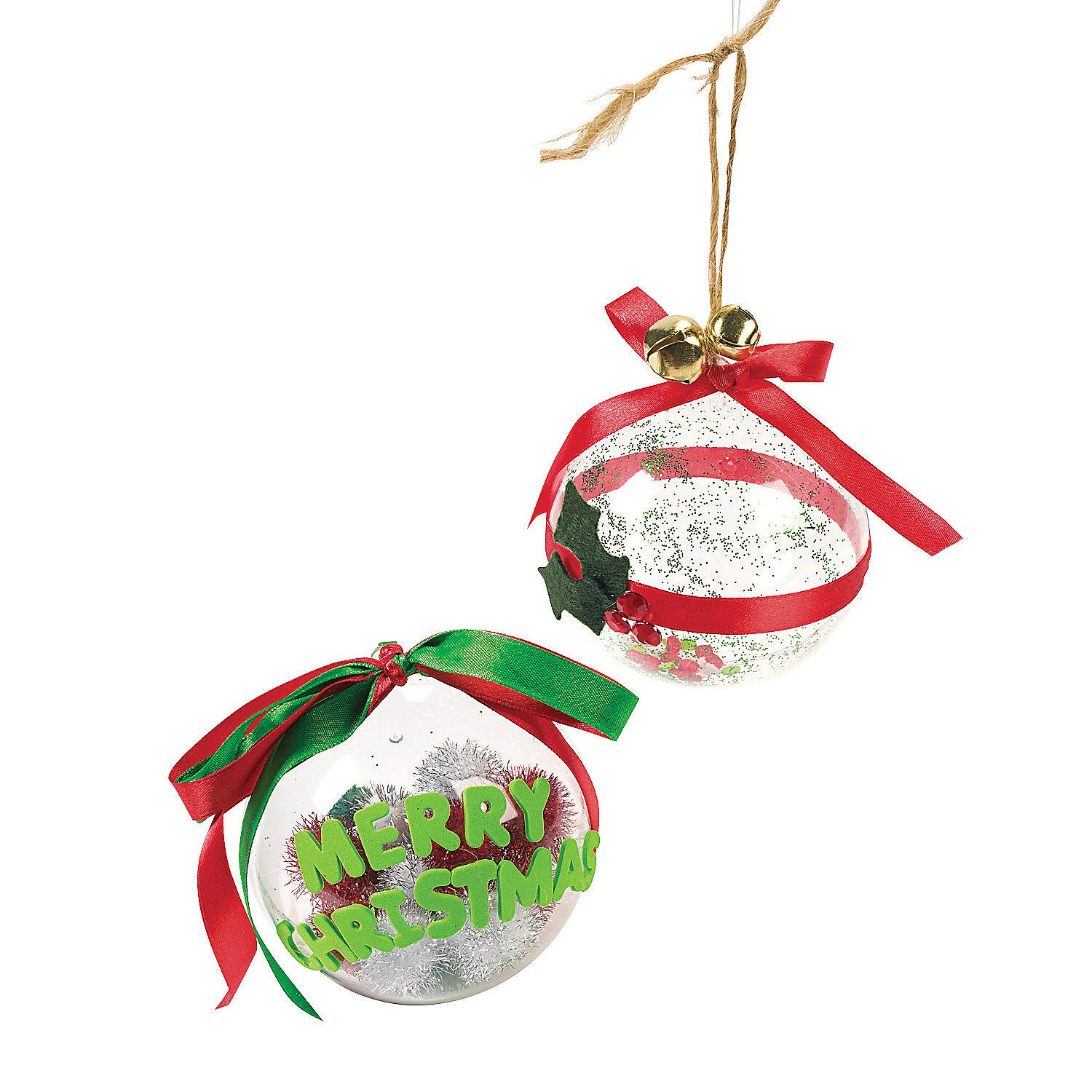 Design your own large clear ornaments the way to decorate for Decorate your own christmas decorations