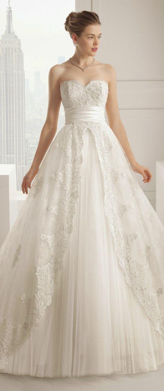 50 Beautiful Lace Wedding Dresses To Die For | Hochzeitskleider ...