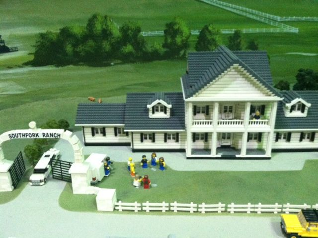 """Southfork Ranch from the show """"DALLAS"""" made out of LEGO bricks in ..."""