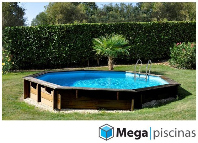 piscina de madera enterrada violete marca gre piscina